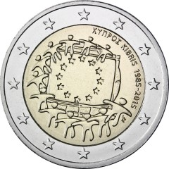Cyprus - 2 Euro - 30. výročie vlajky EU