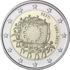 Estónsko - 2 Euro - 30. výročie vlajky EU