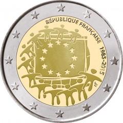 Francúzsko - 2 Euro 2015 - 30. výročie vlajky EU