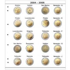 Farebné medzilisty do albumov NUMIS na pamätné 2 Euro mince