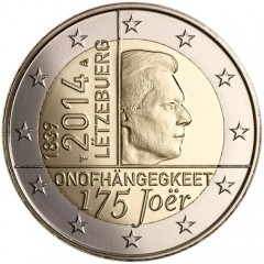 Luxembursko - 2 Euro 2014 - 175. výročie nezávislosti