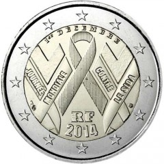 Francúzsko - 2 Euro 2014 - AIDS