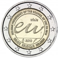 Belgicko - 2 Euro - 2010 - Belgické predsedníctvo Rady EÚ