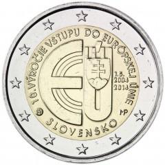 Slovensko - 2 Euro 2014 -  10. výročie vstupu Slovenska do Európskej únie