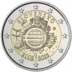 Slovensko - 2 Euro 2012 - Desať rokov eurových bankoviek a mincí