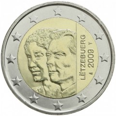 Luxembursko - 2 Euro 2009 - 90.výročie nástupu veľkovojvodkyne Šarloty na trón