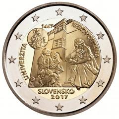 Slovensko - 2 Euro 2017 - Univerzita Istropolitana – 550. výročie začatia činnosti