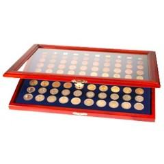 Vitrína na 10 sád euro mincí bez bubliniek - SAFE 5888