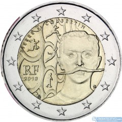 Francúzsko - 2 Euro 2013 - Pierre de Coubertin