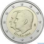 Španielsko - 2 Euro 2014 - Filip VI.