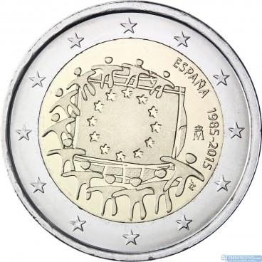 Španielsko - 2 Euro 2015 - 30. výročie vlajky EU