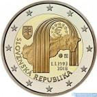 Slovensko - 2 Euro 2018 - 25. výročie vzniku SR