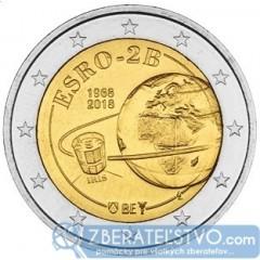 Belgicko - 2 Euro 2018 - 50. výročie vypustenia satelitu ESRO-2B známy aj ako IRIS