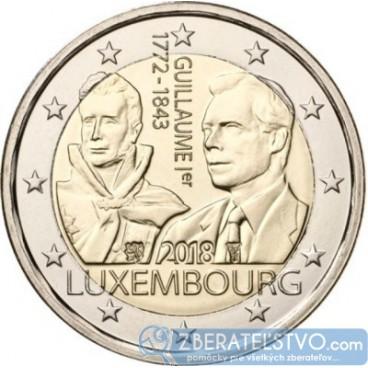 Luxembursko - 2 Euro 2018 - 175 rokov od smrti Veľkovojvodu Viliama I.