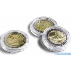 Kapsle CAPS na mince do priemeru 26 mm - na pamätné 2 Euro mince - 10ks