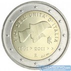 Taliansko 2 Euro 2011 - 150. výročie talianskeho zjednotenia