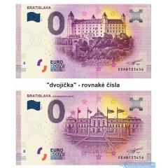 0 Euro Souvenir Slovensko EEAB-2019-1 + EEAB-2019-3 - Bratislava - Bratislavský hrad + Grasalkovičov palác - rovnaké čísla