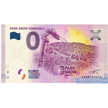 0 Euro Souvenir Slovensko EEBN-2019-1 - Slovensko - PARK SNOW DONOVALY