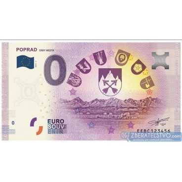 0 Euro Souvenir Slovensko EEBC-2019-2 - Slovensko - POPRAD – ERBY MESTA
