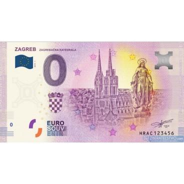 0 Euro Souvenir Chorvátsko HRAC-2019-1 - ZAGREB