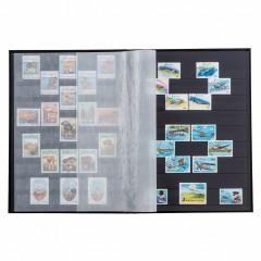 Album na známky S32 - čierne listy - A4 - 32 strán