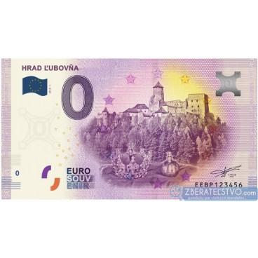 0 Euro Souvenir Slovensko EEBP-2019-1 - HRAD ĽUBOVŇA