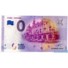 0 Euro Souvenir Kuba CUAA-2019-1 - Cuba Havana