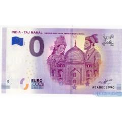 0 Euro Souvenir India EAAB-2019-1 - Taj Mahal 2019