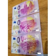 0 Euro Souvenir Chorvátsko 2019-1 - DUBROVNIK + PULA + ZAGREB - zlatotlač