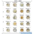 Farebné medzilisty do albumov NUMIS na pamätné 2 Euro mince - 20 mincí na stranu - číslo 24 - 2020