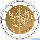Estónsko - 2 Euro 2020 - 100. výročie mierovej zmluvy s Ruskom