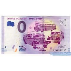 0 Euro Souvenir Malta FEAF-2019-1 - Vintage Transport - MALTA Buses