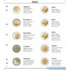 Farebný medzilist do albumov NUMIS na pamätné 2 Euro mince - 10 mincí na stranu - číslo 52 - 2020