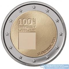 Slovinsko - 2 Euro 2019 - 100. výročie založenia univerzity v Ľubľane