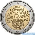Portugalsko - 2 Euro 2020 - 75. výročie založenia Organizácie spojených národov