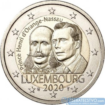 Luxembursko - 2 Euro 2020 - 200. výročie narodenia princa Henriho Holandského