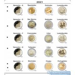 Farebný medzilist do albumov NUMIS na pamätné 2 Euro mince - 20 mincí na stranu - číslo 26 - 2020-2021