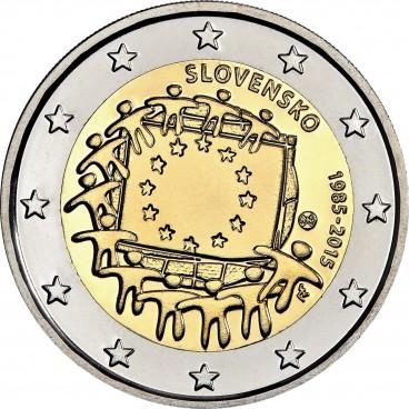 d8142c9cb Slovensko - 2 Euro - 2015 - 30. výročie vlajky EU - Zberatelstvo.com