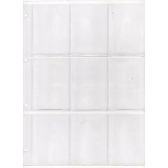 List A4 - 9 okienkový - 60x90 mm - na hokejové karty - 5 ks