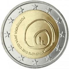 Slovinsko - 2 Euro 2013 - Postojnská jaskyňa