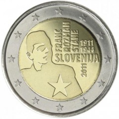 Slovinsko - 2 Euro 2011 - Franc Rozman-Stane