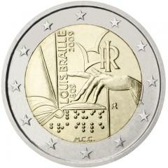 Taliansko 2 Euro 2009 - Louis Braille