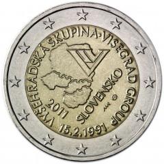 Slovensko - 2 Euro 2011 -  20. výročie vzniku Vyšehradskej skupiny