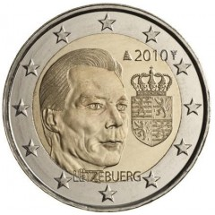 Luxembursko - 2 Euro 2010 - Erb Veľkovojvodu Henricha