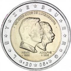 Luxembursko - 2 Euro 2005 - 50. narodeniny veľkovojvodu Henriho