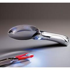LED Lupa CHOPARZ 2.5x zväčšenie - chrómová rukoväť