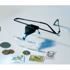Okuliare s lupou a diódou LED - VISIR