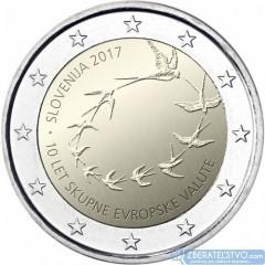 Slovinsko - 2 Euro 2017 - 10. výročie zavedenia Eura