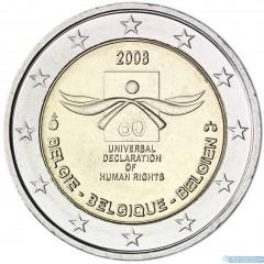Belgicko - 2 Euro - 2008 - Ľudské práva