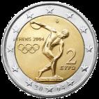 Grécko - 2 Euro 2004 - Letné olympijské hry 2004 v Aténach